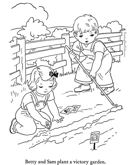 farmer coloring pages farm page to print and color 006
