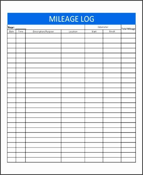 8 Excel Mileage Log Template Sletemplatess Sletemplatess Microsoft Excel Mileage Log Template