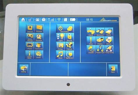 home automation system interface touch screen id 4147255