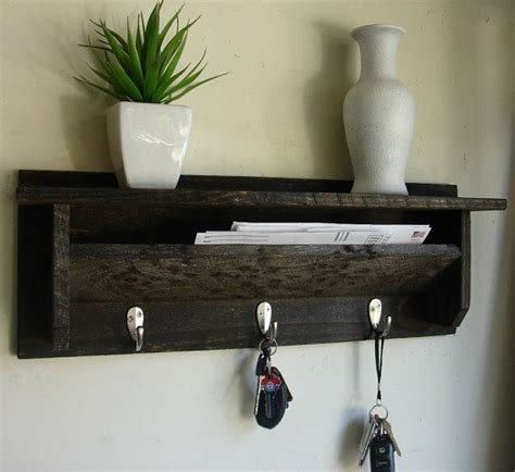 Wall Mounted Mail Organizer And Key Rack by Modern Rustic Entryway Coat Rack Shelf And Mail Phone Key