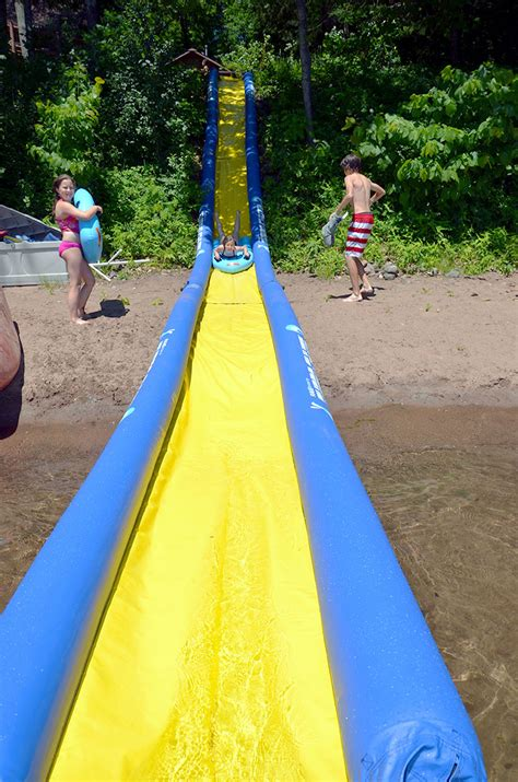how to make a water slide in your backyard huge inflatable water slide