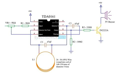 metal diagram metal detector circuit