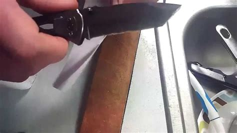 sharpen tanto blade how to sharpen tanto blade style knife 2x speed