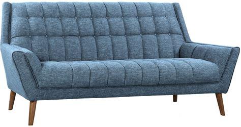 blue mid century modern sofa cobra mid century blue linen modern sofa from armen living
