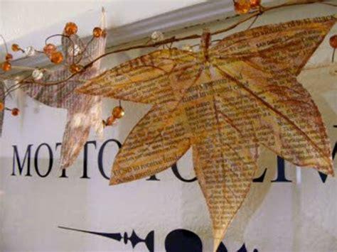 Deko Bl Tter Herbst 2616 by Diy Dekoration Aus Zeitung Die Wohnung Auf Kreative