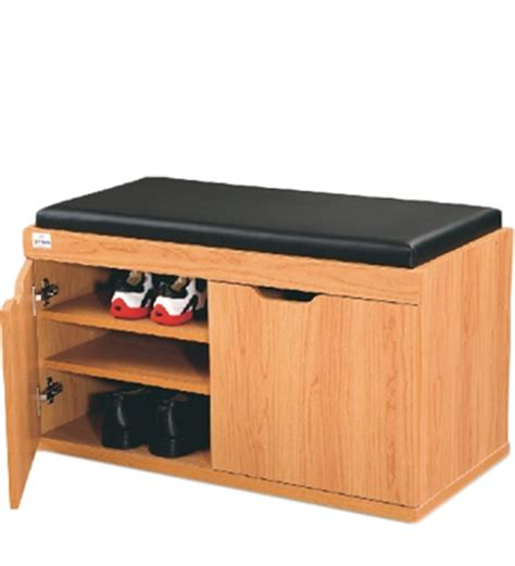 Second Hand Furniture Online two door shoe cabinet in honey colour by godrej interio by
