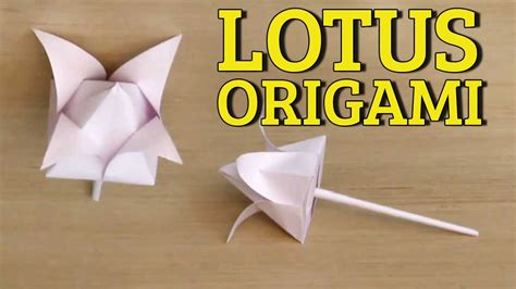 3d Origami Lotus Flower Tutorial - 3d origami flowers tutorial easy paper flower folding