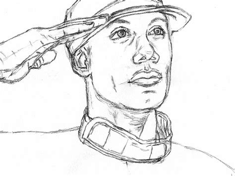 Army Drawings Easy how to draw an army saluting let s draw