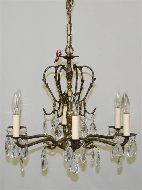 nature chandelier nature inspired six light cast brass chandelier c 1950