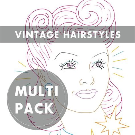 vintage hairstyles book pdf vintage hairstyles embroidery patterns sublime stitching