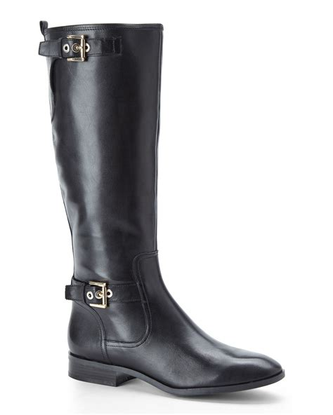 nine west boots nine west black bring it boots in black lyst