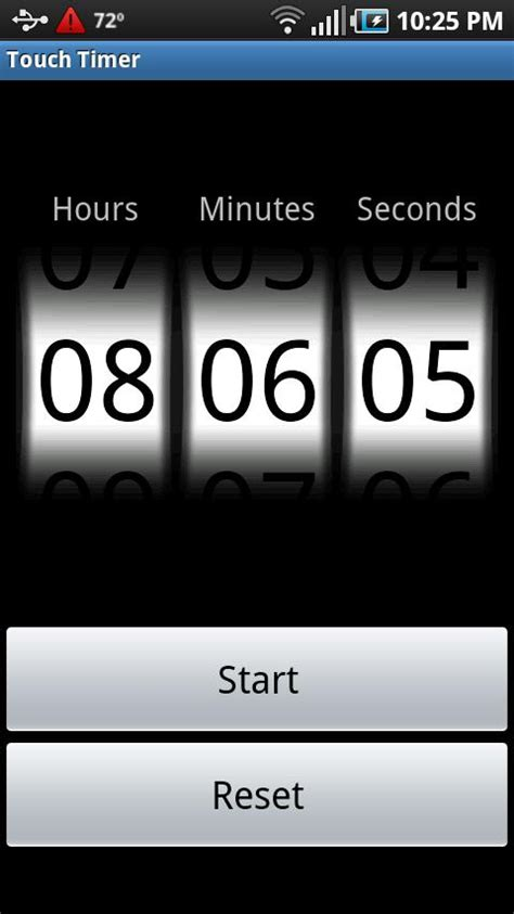 timer android android application touch timer v2 0 adamthole