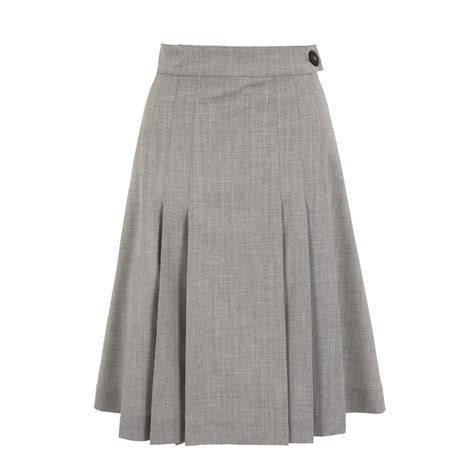 ladywell pleated a line skirt at daks