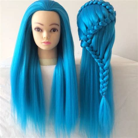 hairstyles done on a mannequin with green hair china yaki hairdresser training mannequin head learn