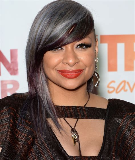 raven s raven symon 233 shows off an icy silver purple hairstyle at