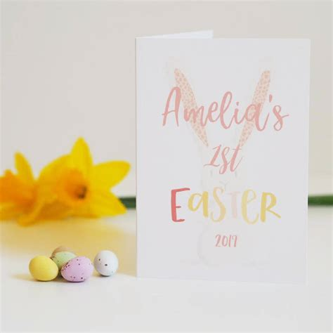 easter card baby s easter card by sweetlove press