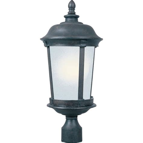Energy Saving Outdoor Lights Maxim Lighting Dover Energy Efficient 1 Light Bronze Outdoor Pole Post Mount 85092fsbz The