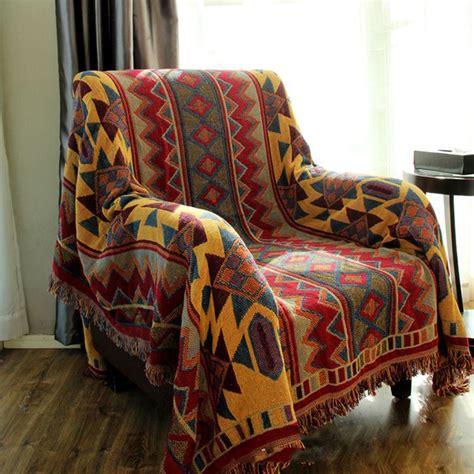 Blanket Throw For Sofa by Chausub Bohemian Chunky Cotton Plaid Blanket Home Sofa