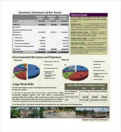 sample annual financial report template 9 free annual financial report template masir