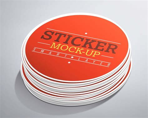 Bumper Sticker Mockup Free