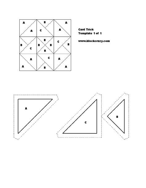 printable card tricks free patchwork quilt block patterns printable blocks and