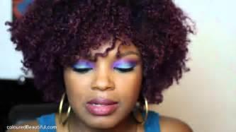 purple rinse hair dye for hair relaxer purple hair color natural hair youtube
