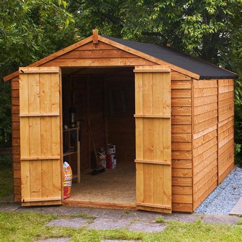 Used Wooden Sheds by 10x8 Wooden Garden Shed Store Apex Windowless Wood Sheds