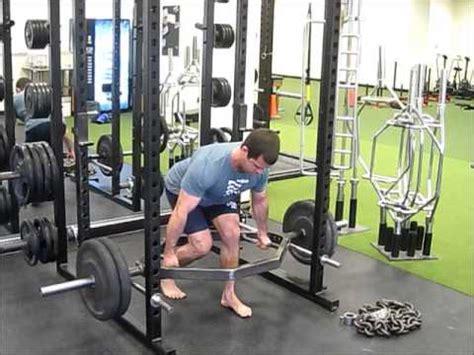 split stance rack rows dead squat bar youtube