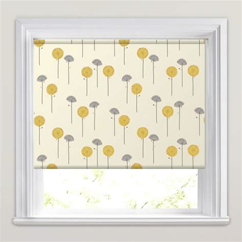 yellow patterned blinds contemporary poppy patterned roller blinds white grey