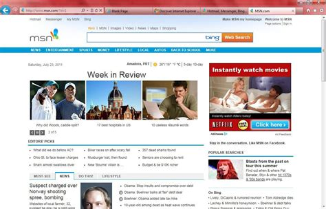 msn home screen images