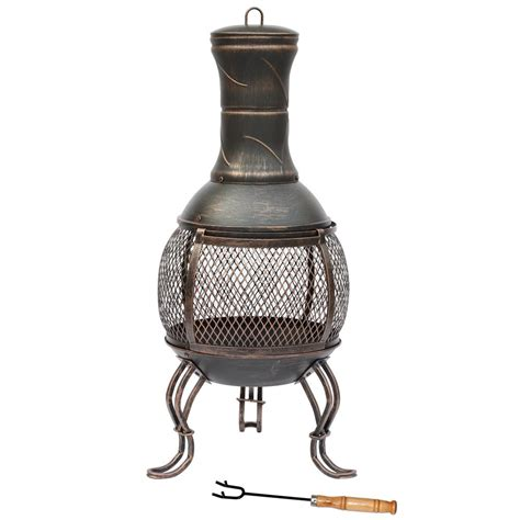chiminea grate steel chiminea fire pit outdoor garden patio heater bbq