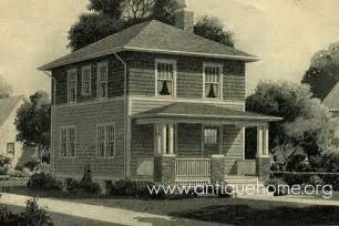 American Foursquare Floor Plans sears honor bilt kit home the cornell american