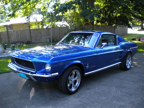 mustang 67 fastback 67 fastback mustang everything s better in blue