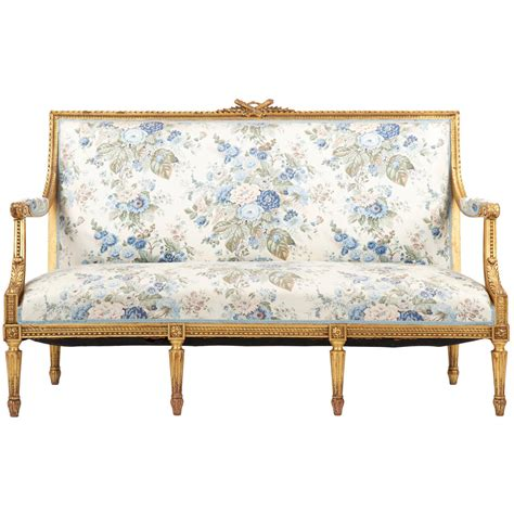 vintage settee french louis xvi style giltwood antique settee sofa canape