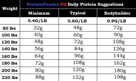 protein per day how much protein is needed to build