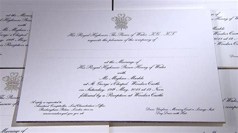 Paper Prince Wedding Invitations by Meghan Markle And Prince Harry S Wedding Invitation Is