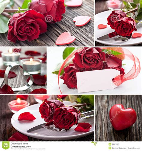 valentines day collage collage valentines day royalty free stock photography