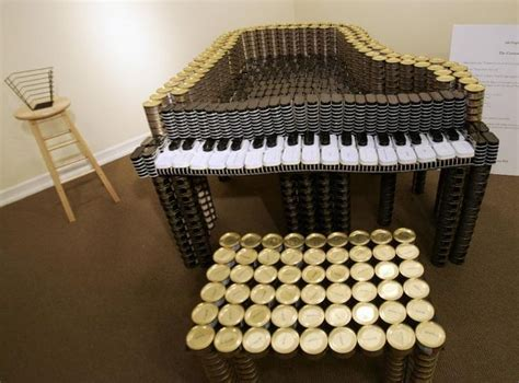 canned food sculpture ideas piano 6 piano pinterest