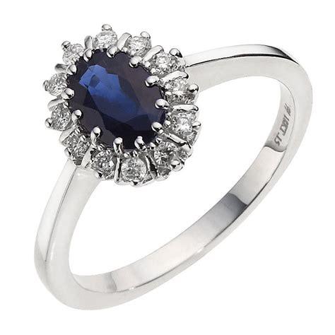 18ct white gold sapphire ring ernest jones