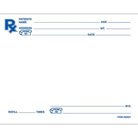 prescription pad template prescription pad images