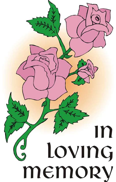1 Year Memorial Flowers - free memorial service clipart
