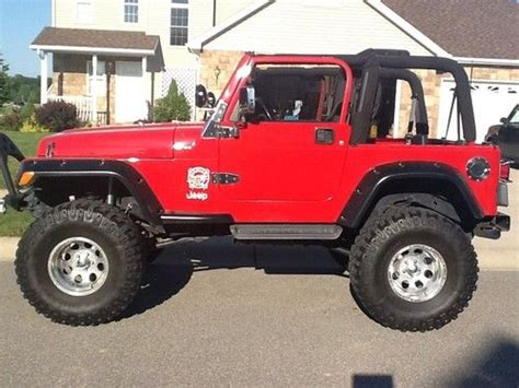 jeep lifted 6 inches buy used jeep wrangler tj lifted 36 s 6 inch arm 20 k