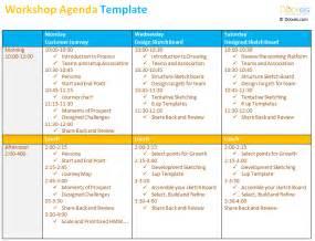 Workshop Templates by Workshop Agenda Template Dotxes