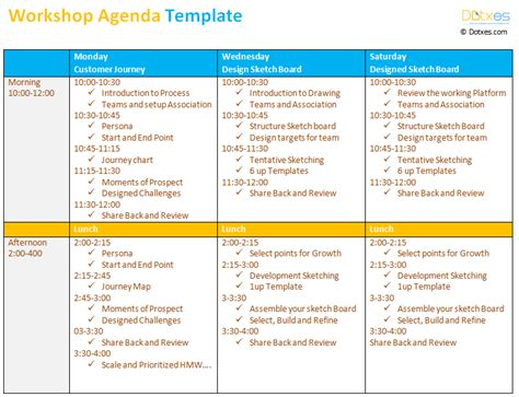 workshop card template workshop agenda template dotxes