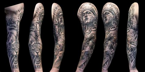 tattoo designs full sleeve in black and grey 28 sleeve designs black grey black and