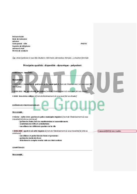 Lettre De Motivation De Municipale Modele Cv Municipale Cv Anonyme