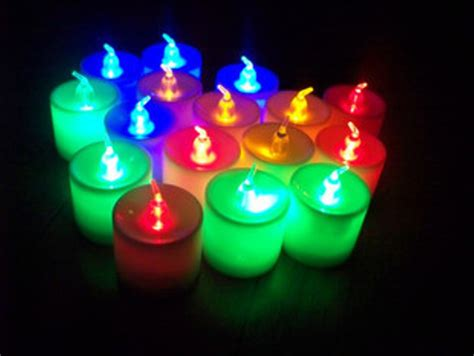 jual lilin led listrik elektrik 7 warna di lapak