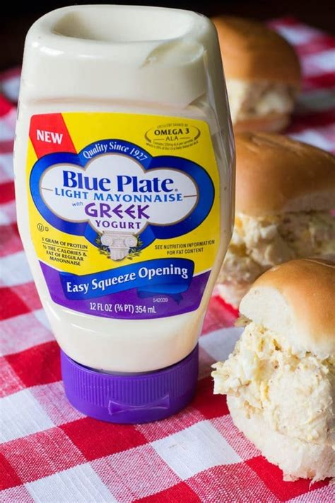 blue plate light mayonnaise with yogurt southern chicken salad sandwiches just four ingredients
