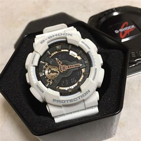 Casio G Shock Ga 110 White casio g shock ga 110rg 7aer white luxury watches on