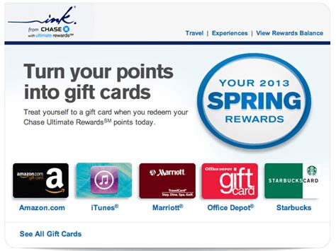 Chase Ultimate Rewards Gift Cards - chase really wants me to burn ultimate rewards points jeffsetter